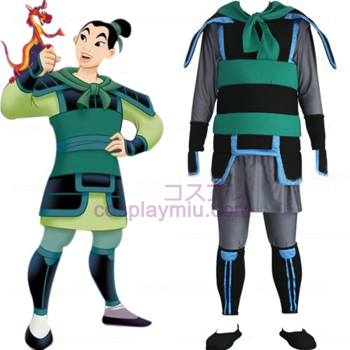 Kingdom Hearts 2 Mulan Men Trajes Cosplay