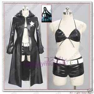 Vocaloid Negro Rock Shooter Trajes Cosplay