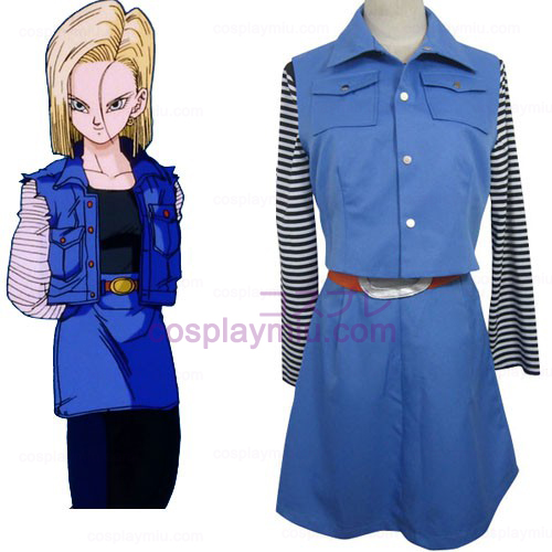 Dragon Ball Android 18 Trajes Cosplay
