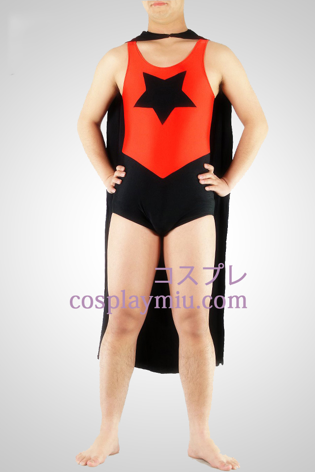 Five-Pointed Star Superman Superhero Catsuit