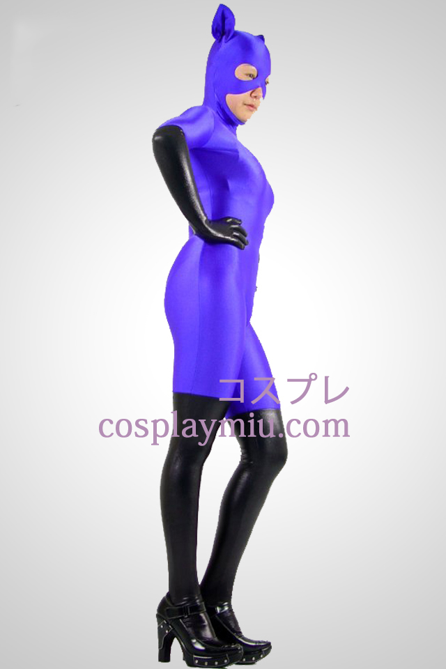 Purple Cat Woman Lycra Zentai Suit