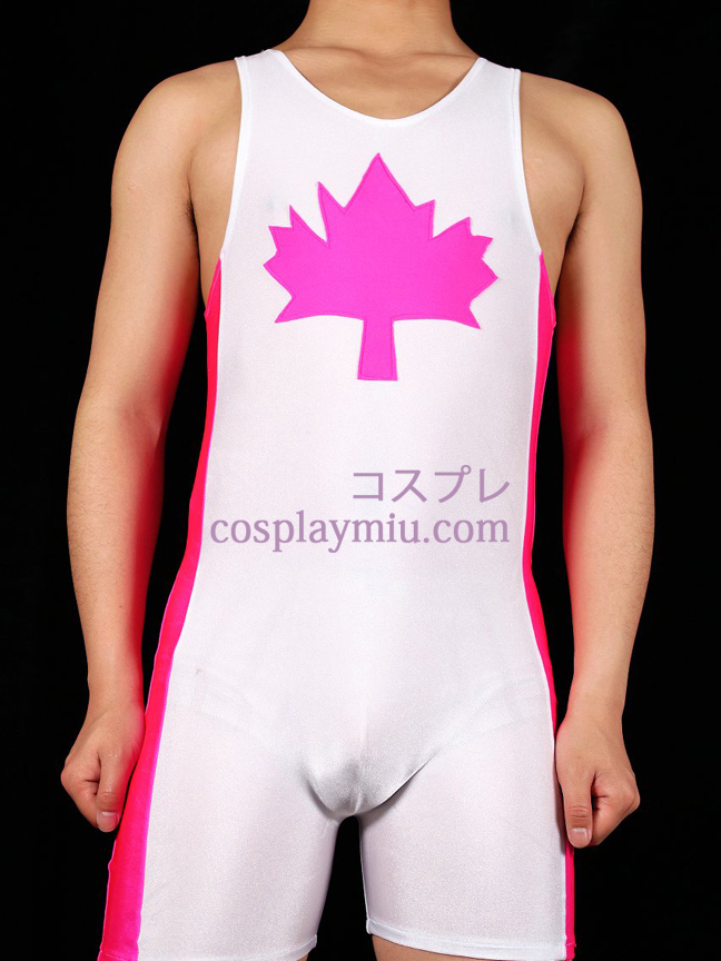 Maple leaf Sleeveless Gymnasium Suit