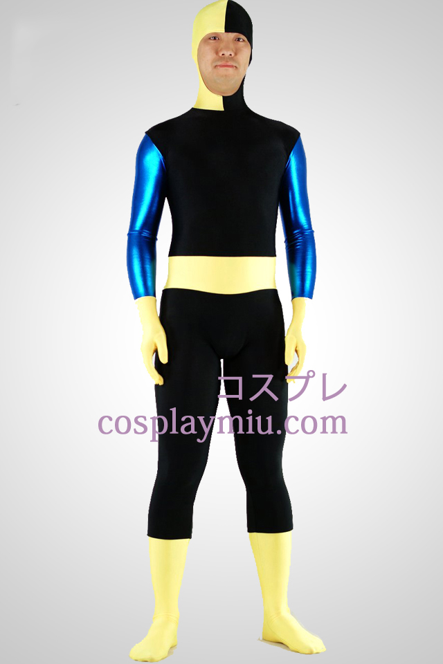 Black Lycra Spandex Zentai Suit with Face Open