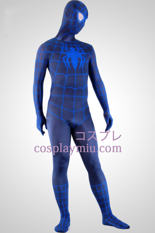 Black And Blue Spiderman Superhero Zentai Suit