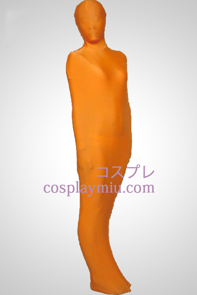 Orange Mummy Style Lycra Zentai