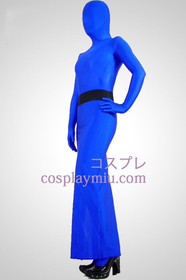 Blue Full Body Lycra Spandex Dress