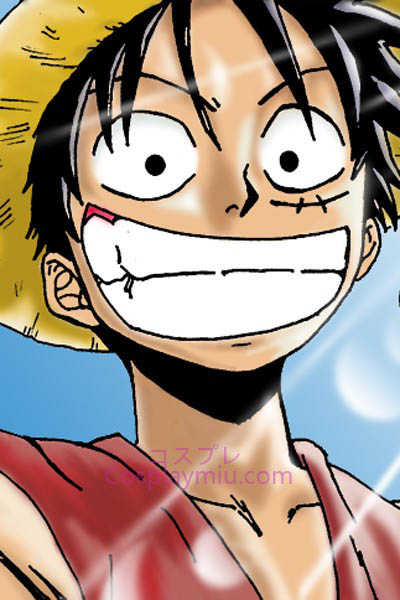 One Piece Monkey D. Luffy Cosplay peluca corta